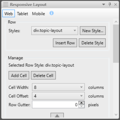 Responsive Layout editor