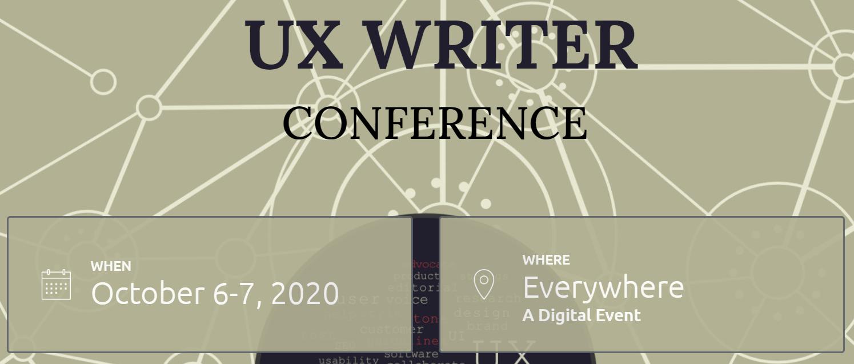 UX Writer Conference Logo